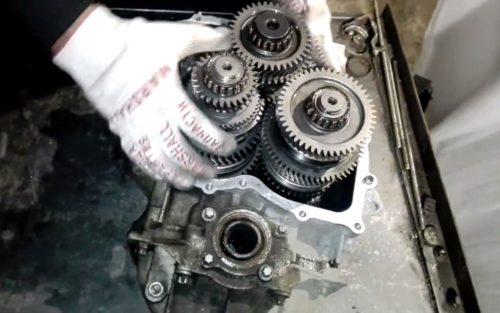 Фото замены МКПП Toyota Corolla