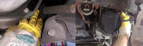 Фото замены сцепления Renault Logan