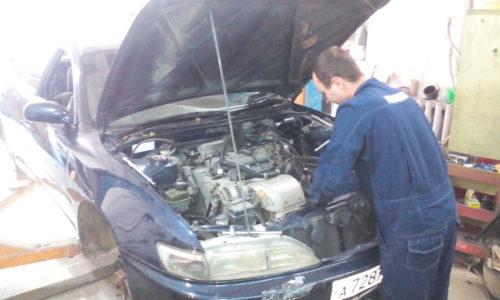 Фото замены сцепления Toyota Carina