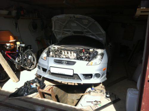 Фото замены сцепления Toyota Celica