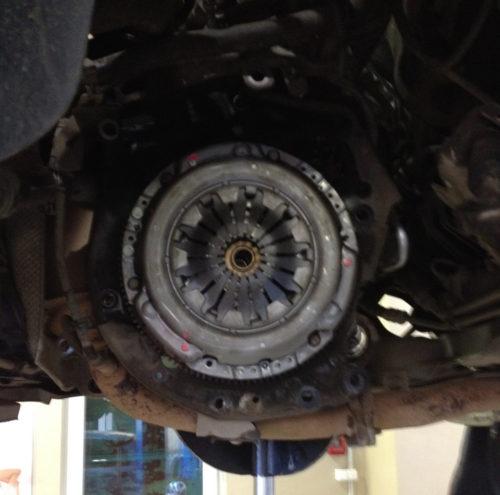 Фото замены сцепления Fiat Albea