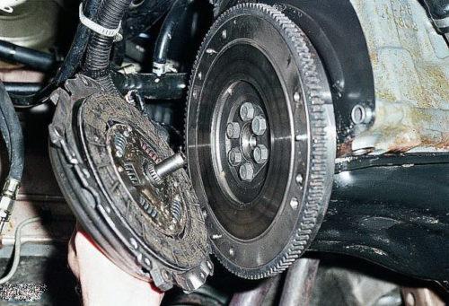 Фото замены сцепления Nissan Note