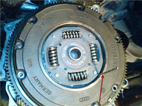 Фото замены сцепления VW Golf 4